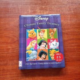 Disney Mega Treasury: Ultimate Family Treasury 迪士尼超级金库:终极家族金库(英文原版书,16开硬精装彩印,50个经典迪士尼故事