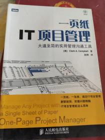 一页纸IT项目管理
