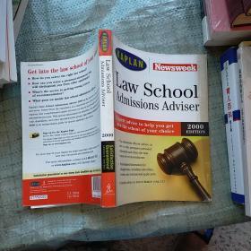 Law School Admissions Adviser 2000(法学院入学申请指南:选校,申请和奖学金) 外文版   请看图