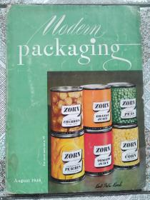 民国  现代包装1948年第8期  MODERN PACKAGING 多广告