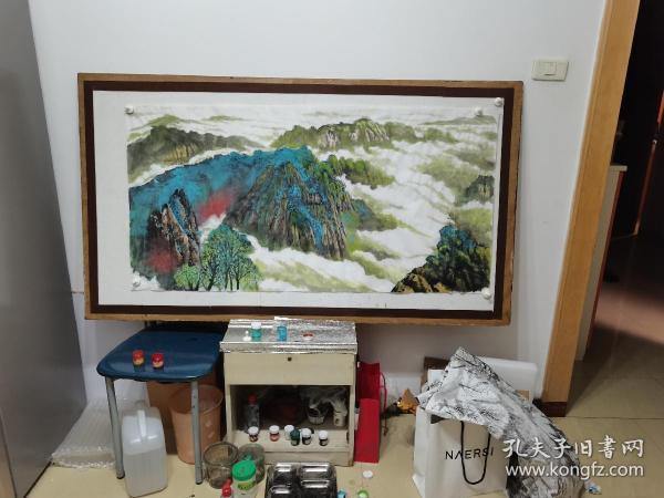 纯手绘国画山水(无款)