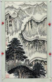 姜昭明 画  杨再春  题词 尺寸  96/54 立轴