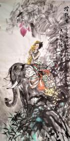 【终身保真字画】牛力生137X68cm! 河北深州人,毕业于解放军艺术学院美术系。作品多次参加全国、全军美展并被国家相关权威机构收藏。近年来,深入研究中国画艺术,潜心钻研水墨人物的绘画艺术和技法,在中西绘画中不断探索中国画的表现语言。时值中国共产党建党一百周年,谨以《红星梦》和《庄严一票》两幅主题作品献给建党一百周年,表达作者对党和人民军队的深厚崇敬之情。