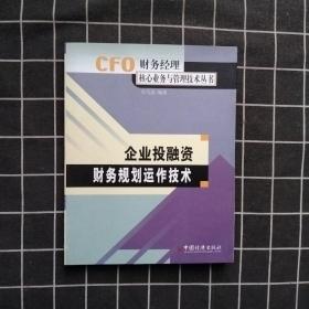 企业投资融资财务规划运作技术