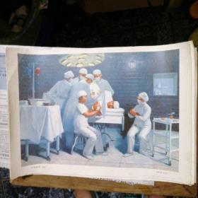 宣传画,《针刺麻醉》 (油画)1972年12月上海人民出版社1次印
