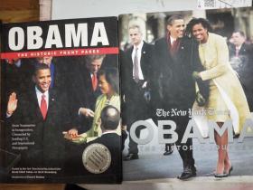 obama the historic front pages(奥巴马登上历史的头版精装16开<obama the historic journey﹥奥巴马创造历史﹥精装16开二本合售