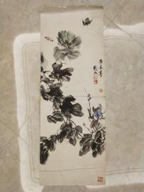 名家写意国画《花开富贵》