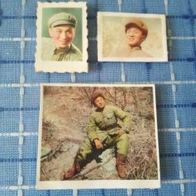 1953年志愿军47军战士老秃山战斗前照片共三张