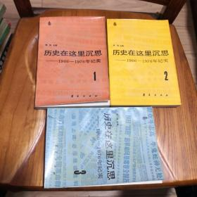 历史在这里沉思 (1966--1976年记实)1-3卷 三本合售