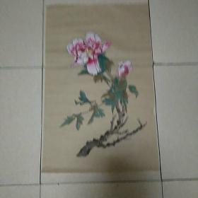 无款花鸟4平尺,,仿古纸画(010)