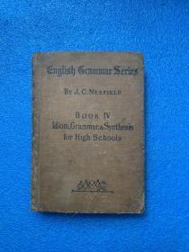 (1923年初版)idiom and grammar and synthesis( 布面精装)