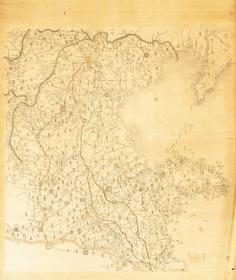 0547古地图1855–1870 直隶山东两省地與全图。184.25*218.02厘米,分割印制,宣纸艺术微喷复制。1100元包邮