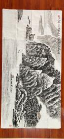 【郭公达】精品山水画《黄山秋色》一幅,四尺整纸,68厘米//136厘米