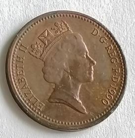 英国硬币1便士保真