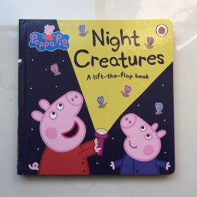 peppa pig粉红猪小妹硬页翻翻书 夜间动物大集合 英文原版绘本 Peppa Pig: Night Creatures 小猪佩奇纸板书 夜间生物 peppa