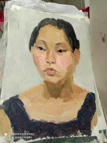 老油画,四张。人物油画,艺术油画