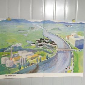 小学课本教学挂图 40水域的污染 全套85幅