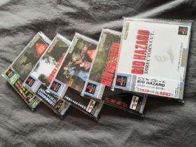 怀旧PS1&PSone游戏机游戏生化危机1+2+3+光枪+2体验版光盘碟