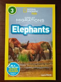 National Geographic Readers: Great Migrations Elephants 【正版全新】