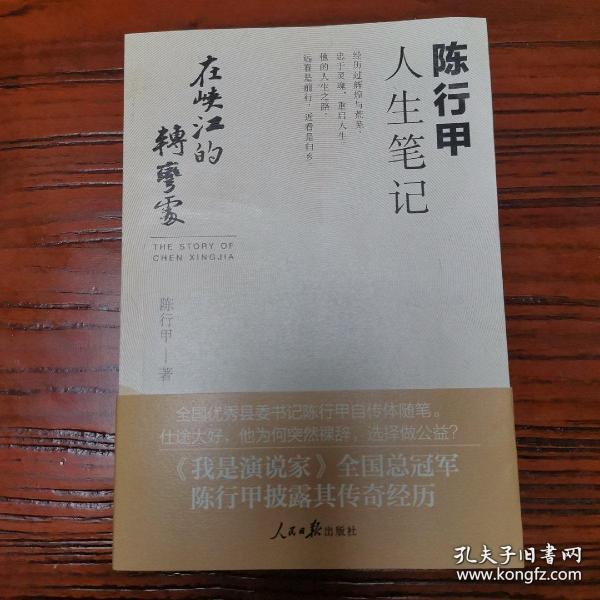 在峡江的转弯处:陈行甲人生笔记