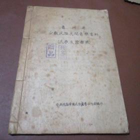 贵州省少数民族民间音乐资料 (民歌及器乐曲)