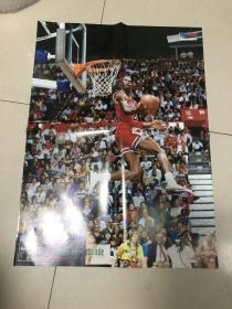 NBA篮球海报 单面 乔丹灌篮