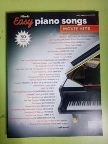 外国原版钢琴乐谱 Easy piano songs:movie hits