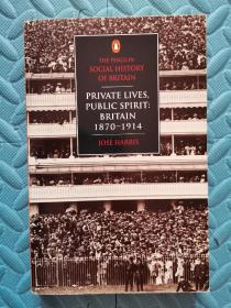 Private Lives, Public Spirit: Britain: 1870-1914 (Social Hist of Britain)