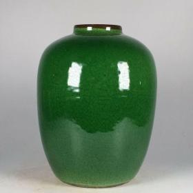 清绿宝石釉瓷罐