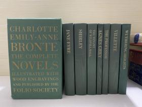 勃朗特小说集   Charlotte Emily Anne Bronte The Complete Novels,  绸面精装,7卷全,有书匣 大24开 (尺寸约为:15*23cm)