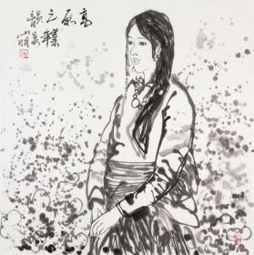 浙江画家吴山明人物画
