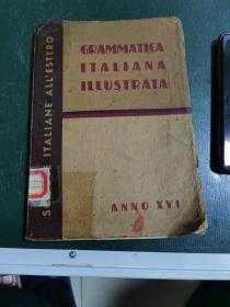 外文版《意大利和語法讀本》1940年有名人英文簽名,