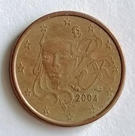 2004年法国硬币1欧分