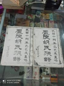 【复印件】庐陵胡氏族谱 上下卷 (原族谱复印本)