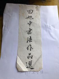 田旭中书法作品选 8*24cm