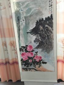 临沂知名画家刘光明四尺整张牡丹1幅〈已装裱,