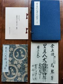 《南总里见八犬传 第四辑卷一》 16开一函两卷 曲亭马琴自笔稿本 与正式出版绘本 复刻日本古典文学馆第一期 其五