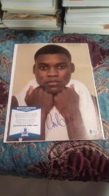 """【签名页】享有""""阿甘""""美誉的短跑运动员,奥运冠军 迈克尔·约翰逊 签名杂志页,bas认证,孔网唯一,十分少见"""