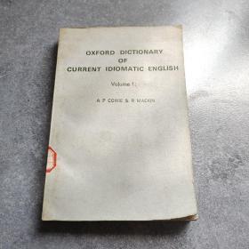 牛津当代英语成语词典第一卷 带有介词和助词的动词部分*