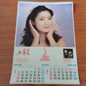 1981年挂历。香港明星:邓丽君,米雪,刘雪华,汪明荃,毛悠明,孟平。共六张全。