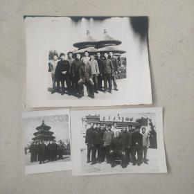 吴式太极拳名家--王培生 合影照片3张合售  尺寸如图