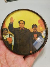 文革带林彪图像小镜子