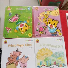 巧虎说说唱唱学英语 What Piggy Likes/A Wonderful Day /DVD  CD  上下  光盘未拆封