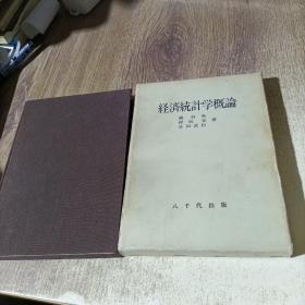 日文原版 经济统计学概论