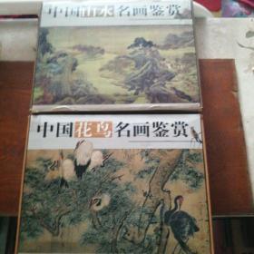 中国山水、花鸟名画鉴赏 2套书共8本(有函盒)