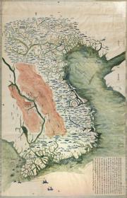 越南全境舆图 边界及周边国家 光绪十一年后,古地图古地图古地图0530