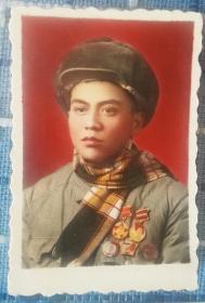 1953年志愿军54军162师战斗英雄徐月禄照片