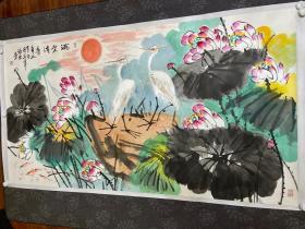 中美协画家宋福生 白洋淀画派创始人 李苦禅亲传弟子 齐白石再传弟子 国画精品