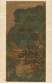 商山四皓(元 佚名)图轴。纸本大小99.78*159.71厘米。宣纸艺术微喷复制。