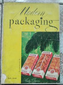 民国  现代包装1948年第7期  MODERN PACKAGING 多广告
